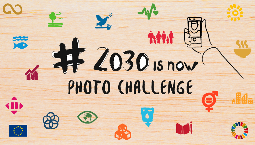 banner of 2030isnow challenge about 2030 Agenda